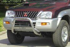 MITSUBISHI L200 BULL BAR MIRROR INOX 60 LUCIDO C/SCRITTA per mod.2002