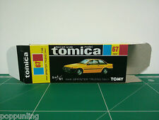 Reproduction Box for Tomica Black Box No.67 Toyota Sprinter Trueno 2door