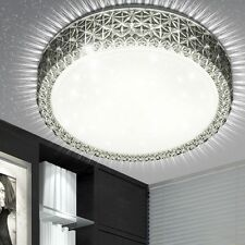 Luxus LED 10 W Decken Leuchte rund Kristalle Dielen Sternen Himmel Lampe EEK A+