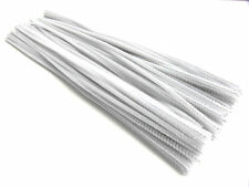 """New 100pc 12"""" White Long Chenille (Pipe & Gun Cleaner) 6mm Stems *US SHIPPER*"""