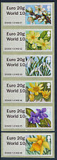 "Nuevo Wincor doble valor ""euro 20g/world10g primavera florece set/6 Diseños Post & Go"
