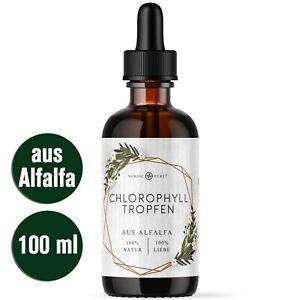 Chlorophyll Tropfen (100ml) aus Alfalfa (liquid, flüssig) + 200mg je Tagesdosis!
