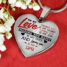 To my Love Making you Luxury Heart Shape Necklace Anniversary Gift for Husband