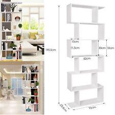 Scaffale Libreria 6 Ripiani bianco Legno Stile Urban Soggiorno 190.5×70×23.5cm