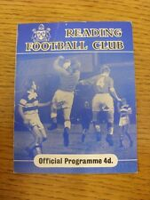 19/03/1960 Reading v Wrexham  (Creased). Thanks for viewing this item, buy in co
