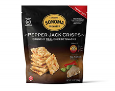 Sonoma Creamery Cheese Crisps - Pepper Jack Savory Cheese Cracker Snack High Low