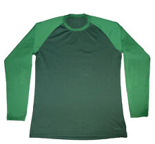Patagonia 2-Tone Green L/S Base Layer Shirt, Men's M