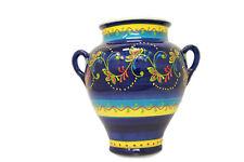 Cadiz, Blumentopf, Hängetopf, für draußen, spanische Keramik handbemalt,