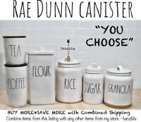 "Rae Dunn Canister Cellar COFFEE SUGAR TEA RICE GRANOLA ""YOU CHOOSE"" NEW'20-'21"