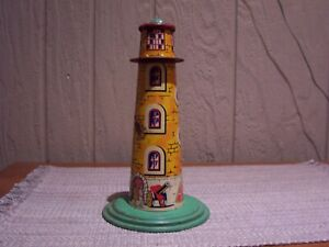 Vintage Tin Watch Tower for Model Trains and Train Track Display