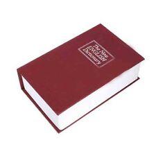 Dictionary Book Cash Money Jewelry Storage Security Box Safe Key Code Lock S/M/L