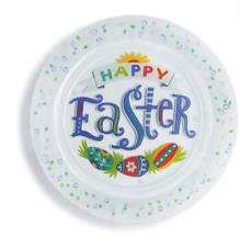 "Happy Easter Confetti Platter 13.5""dia Spring Demdaco #2020190060"