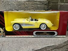 Road Signature 1957 Chevy Corvette Roadster 1:18 Scale Diecast Model Car Yellow