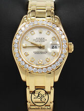 Rolex Masterpiece Pearlmaster 80298 18K Gold Factory Diamonds *MINT CONDITION*