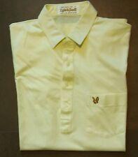 vtg Lyle & Scott yellow golf polo shirt size medium large mod 80s casuals indie