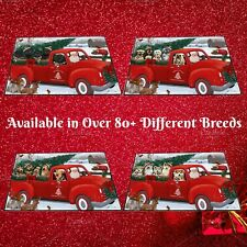 Christmas Santa Express Delivery Red Truck Floormat, Dogs, Cats, Pet doormat