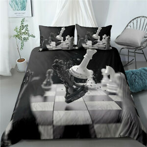 3D Secret Of Chess Bedding Set Duvet Qulits Cover Comforter King Pillow Case