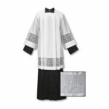 Latin Cross and IHS Lace Surplice, Large