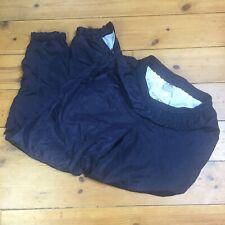 """Vintage 90s Active Swiss Design Black Navy Shell Suit Bottoms - Size M/L 28"""""""