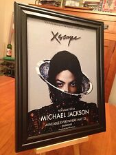 1 BIG 10X13 FRAMED MICHAEL JACKSON XSCAPE & IMMORTAL PROMO AD - choose from 4