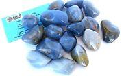 One Chalcedony Grade C Tumbled Stone 25-30mm Reiki Healing Crystal Generosity