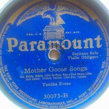 78 rpm Paramount 30073, Vertical Cut, Mother Goose / Children's Games V
