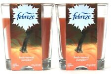 2 Ct Febreze 6.3 Oz Limited Edition Fresh Harvest Pumpkin 2 Wick Scented Candle