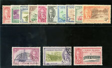 Cayman Islands 1950 KGVI set complete very fine used. SG 135-147. Sc 122-134.