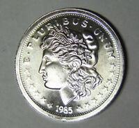 1985 Morgan Silver Dollar Style 1 oz .999 Fine Silver Round (92118)