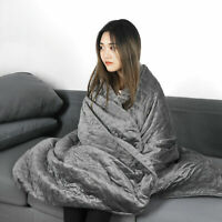 Breathable 100% Cotton 12/15/20lbs Weighted Blanket Fit to Full/Queen Size