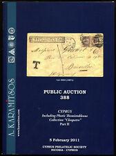 Cyprus Zypern Greece Postal History Auction Catalog Karamitsos 2011
