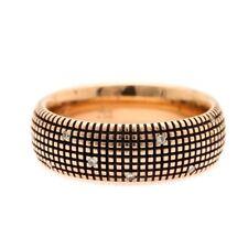 Damiani Designer Metropolitan Rose Gold and Diamond Band Size 11