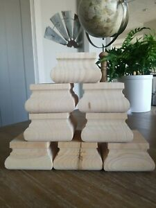"""Unfinished Square Squat Welsh Furniture Bunfoot 2"""" Tall x 3 3/8"""" Wide - Set of 8"""