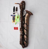 Professional Red Antique Brass Baritone Saxophone TaiShan New Bari Sax With Case