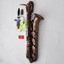 Professional Red Antique Brass Baritone Saxophone TaiShan New Bari Sax With Case