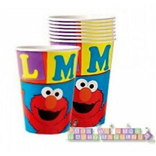 SESAME STREET Elmo Loves You 9oz PAPER CUPS (8) ~ Birthday Party Supplies Drinks