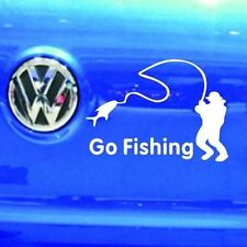 Hot Go Fishing Vinyl Car Graphic Reflective Vehicle Sticker Decal Decor Auto CN