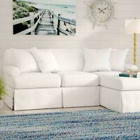 Sunset Trading Horizon Slipcover for Sleeper Sofa & Chaise Peyton Pearl