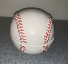 Pottery Barn Ceramic Vintage Jar Paperweight Major League Baseball Coin Holder