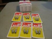 MODEL POWER 6 PR 461 CLEAR  INDENTED  BULBS SCREW 14 VOLT FOR 394 BEACON NOS OB