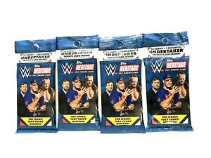 2017 TOPPS WWE HERITAGE FAT PACKS   ( 4 PACK LOT )