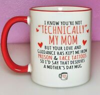 Bonus Mom Cup, Step-Mom Gift, Funny Mother's Day Coffee Mugs, Funny Cups for Mom