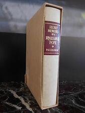 Secret memoirs of renaissance POPE 1988 London Folio Society ARTBOOK by PN