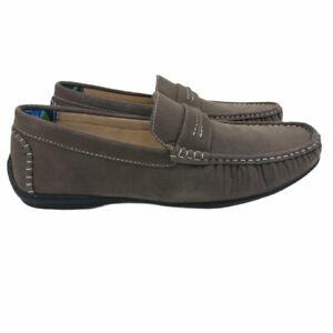 Stacy Adams Park Men's Shoes Gray Driving Mocs Size 10.5 M