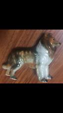 estate ceramic collie dog figurine