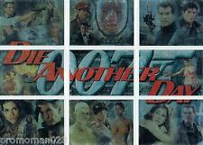 JAMES BOND DIE ANOTHER DAY MONTAGE / PUZZLE INSERT CARD SET 1 TO 9