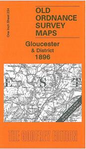 Old Ordnance Survey Map Gloucester & District 1896 - England Sheet 234