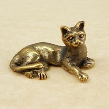 Lovely SIAM CAT Miniature Thai Amulet Brass Magic Holy Rich Wealth Lucky Money