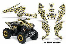 AMR Racing CanAm Renegade500/800/1000 Graphic Kit Wrap Quad Decal ATV All UC YLW