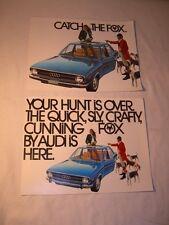 OLD 1973 PORSCHE AUDI FOX AUTOMOBILE CAR ADVERTISING BROCHURE